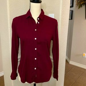 American Eagle Outfitters maroon long sleeve shirt